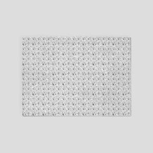 White Faux Glitter 5'x7'Area Rug