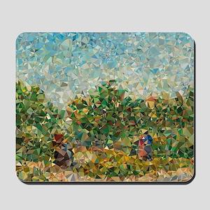Van Gogh Couples Courting In Garden Mousepad