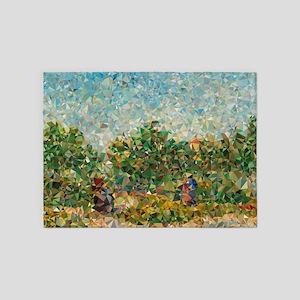 Van Gogh Couples Courting In Garden 5'x7'Area Rug