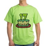 17 Year Old Birthday Cake Green T-Shirt