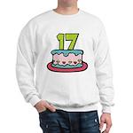 17 Year Old Birthday Cake Sweatshirt