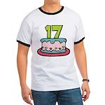 17 Year Old Birthday Cake Ringer T