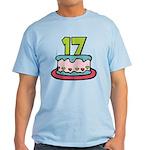 17 Year Old Birthday Cake Light T-Shirt