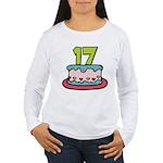 17 Year Old Birthday Cake Women's Long Sleeve Tee