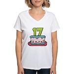 17 Year Old Birthday Cake Women's V-Neck T-Shirt