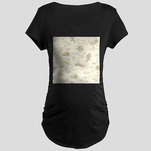 Vintage Summer Beach Pattern Maternity T-Shirt