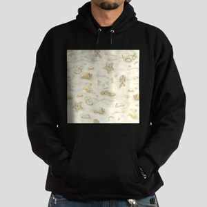 Vintage Summer Beach Pattern Hoodie (dark)