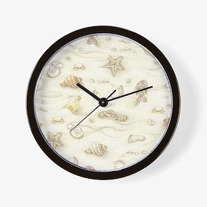 Vintage Summer Beach Pattern Wall Clock