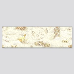 Vintage Summer Beach Pattern Bumper Sticker