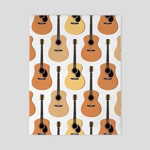 Acoustic Guitars Pattern Twin Duvet