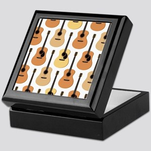 Acoustic Guitars Pattern Keepsake Box