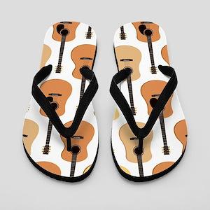 Acoustic Guitars Pattern Flip Flops