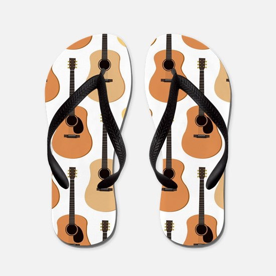 Acoustic Guitars Pattern Flip Flops