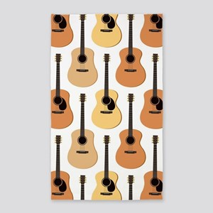 Acoustic Guitars Pattern Area Rug