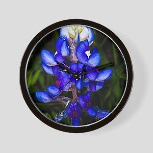 Bluebonnet Flowers Wall Clock