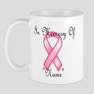 In Memory (pink ribbon) Mug