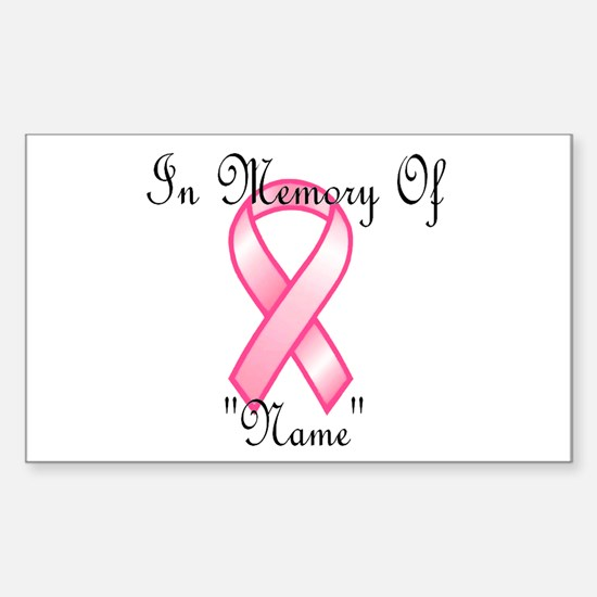 In Memory (pink ribbon) Rectangle Decal