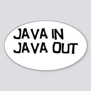 Java in Java Out Sticker