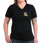 Hero-Unicorn Women's V-Neck Dark T-Shirt