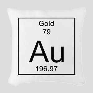 79. Gold Woven Throw Pillow