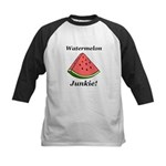 Watermelon Junkie Kids Baseball Jersey