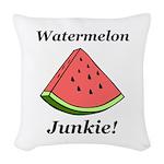 Watermelon Junkie Woven Throw Pillow