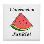 Watermelon Junkie Tile Coaster