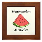 Watermelon Junkie Framed Tile