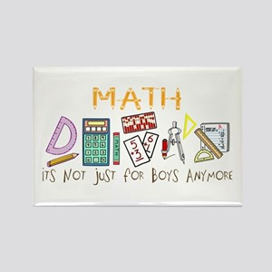 Math: It's Not Just For Boys Anymore Rectangle Mag
