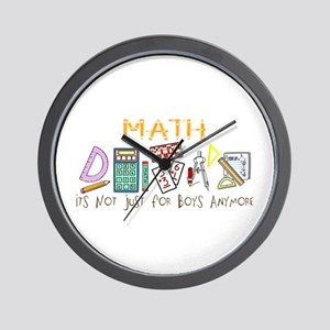 Math: It's Not Just For Boys Anymore Wall Clock