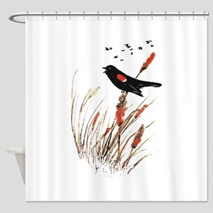 Watercolor Red Wing Blackbird Bird Nature Art Show
