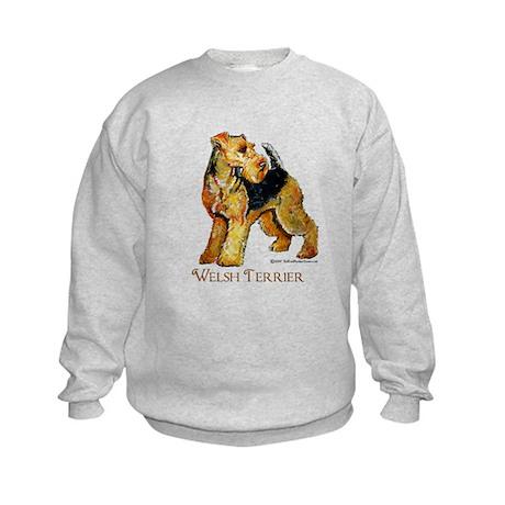 Welsh Terrier Design Kids Sweatshirt