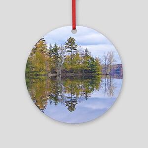 Lake View Scenery Ornament (Round)