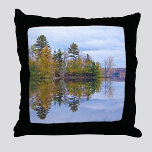 Lake View Scenery Throw Pillow