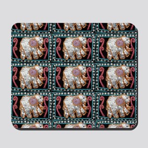 silver sequins elephants 2 Mousepad