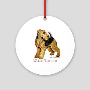 Welsh Terrier Design Ornament (Round)