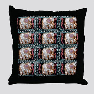 silver sequins elephants 2 Throw Pillow