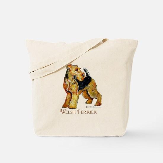 Welsh Terrier Design Tote Bag