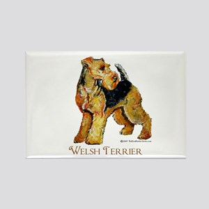 Welsh Terrier Design Rectangle Magnet