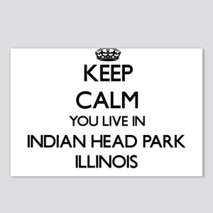 Keep calm you live in Ind Postcards (Package of 8)