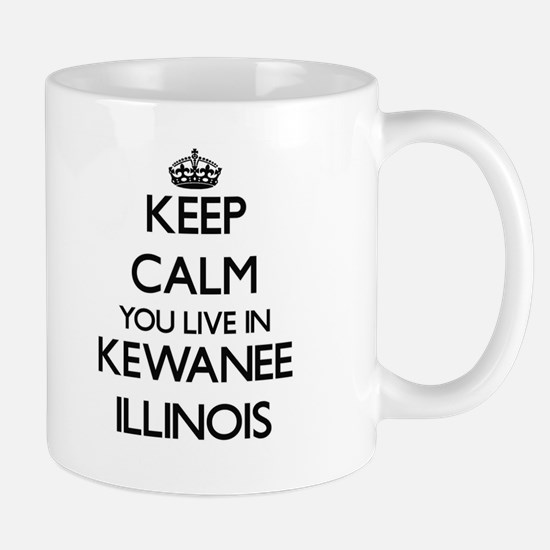 Keep calm you live in Kewanee Illinois Mugs