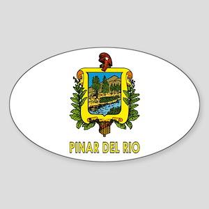 Escudo de Pinar del Rio Oval Sticker