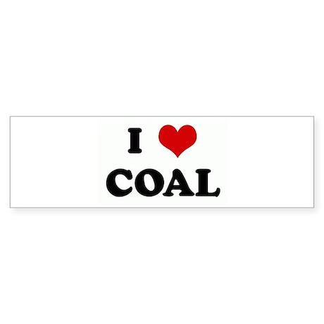 I Love COAL Bumper Sticker