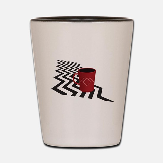 Black Lodge Coffee Shot Glass
