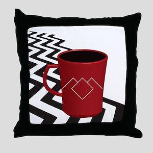 Black Lodge Coffee Throw Pillow
