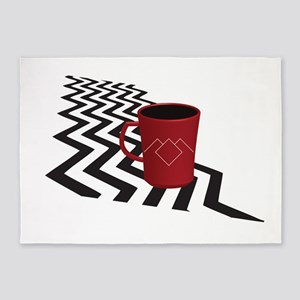 Black Lodge Coffee 5'x7'area Rug