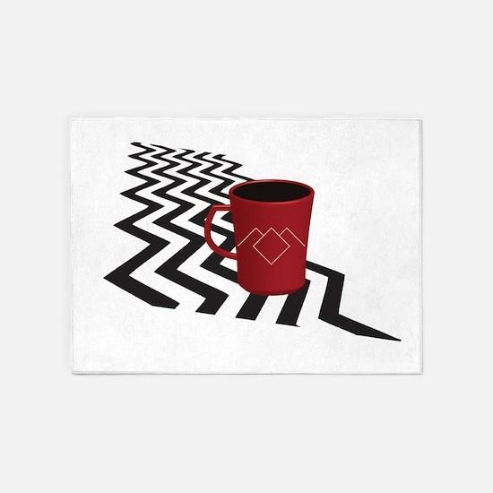Black Lodge Coffee 5'x7'area Rug