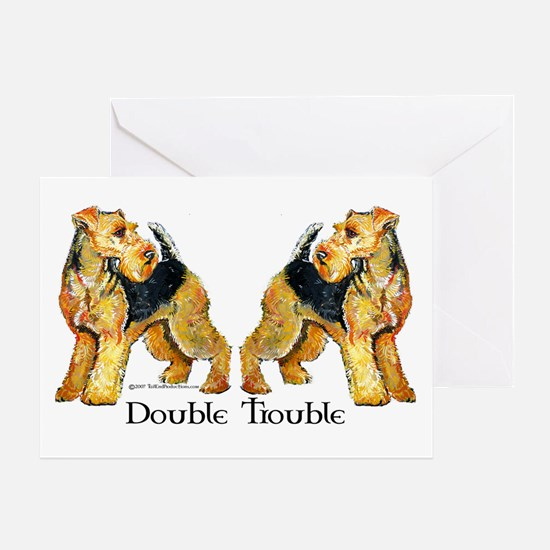 Welshie Double Trouble Greeting Card