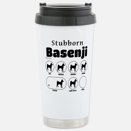 Stubborn Basenji 2 Stainless Steel Travel Mug