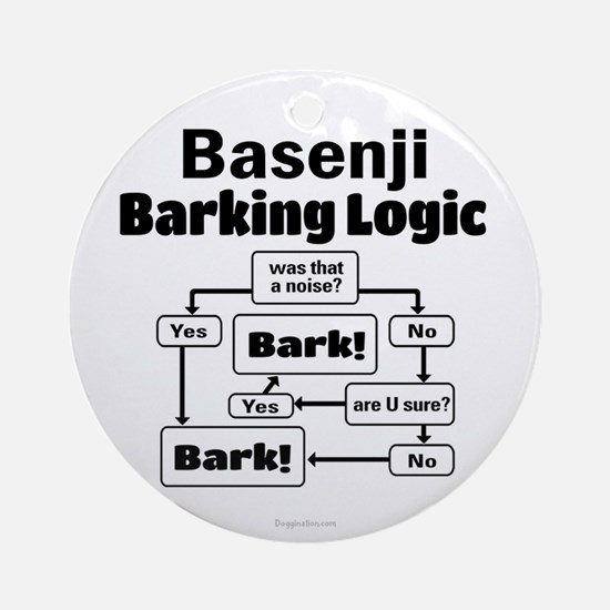Basenji Logic Ornament (Round)